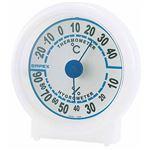 (まとめ)EMPEX 温度・湿度計 シュクレ温度・湿度計 TM-5521 クリアホワイト【×5セット】