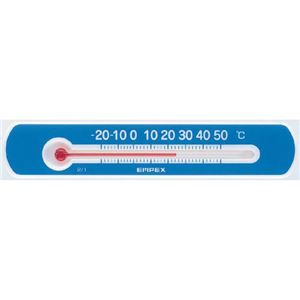 (まとめ)EMPEX温度計マグネットサーモ・ミニヨコ型TG-2526ブルー【×10セット】