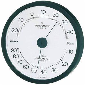(まとめ)EMPEX温度・湿度計エクシード温度・湿度計壁掛用TM-2302ブラック【×3セット】