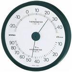 (まとめ)EMPEX 温度・湿度計 エクシード 温度・湿度計 壁掛用 TM-2302 ブラック【×3セット】
