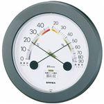 (まとめ)EMPEX 温度・湿度計 ハイライフ 温度・湿度計 壁掛用 TM-2342 メタリックグレー【×3セット】
