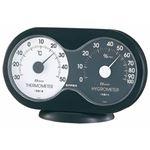 (まとめ)EMPEX 温度・湿度計 アキュート 温度・湿度計 卓上用 TM-2782 ブラック×ホワイト【×5セット】