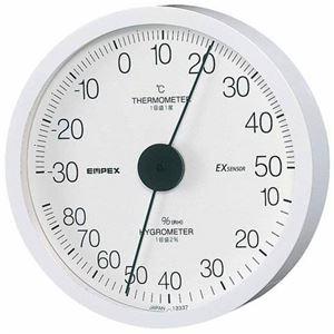 EMPEX温度・湿度計エクストラ温度・湿度計壁掛用TM-6201ホワイト