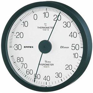 EMPEX 温度・湿度計 エクストラ 温度・湿度計 壁掛用 TM-6202 ブラックの写真
