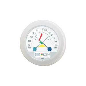 (まとめ)EMPEX生活管理温度・湿度計壁掛用TM-2461クリアホワイト【×3セット】