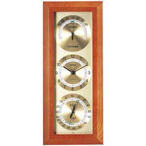 (まとめ)EMPEX掛け時計快適モニタ1台4役不快指数・時計・温度・湿度計TM-712【×2セット】
