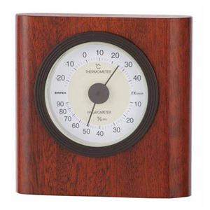EMPEX温度・湿度計イートン温度・湿度計置用TM-646ウォルナット