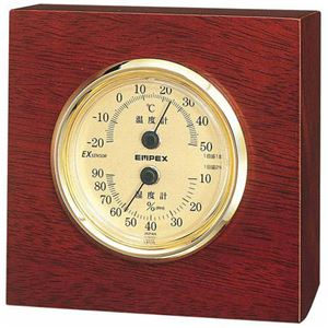 EMPEX温度・湿度計ウッディEX温度・湿度計置用TM-757
