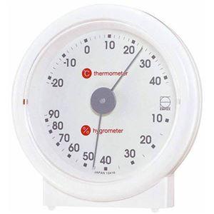 (まとめ)EMPEX温度・湿度計リビ温・湿度計置用LV-4601ホワイト【×5セット】