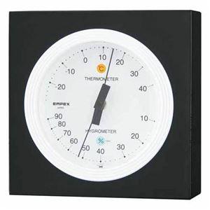 (まとめ)EMPEX温度・湿度計MONO温度・湿度計MN-4821ホワイト【×3セット】