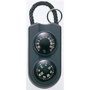 (まとめ)EMPEX温度計・コンパスサーモ&コンパスFG-5122ブラック【×5セット】
