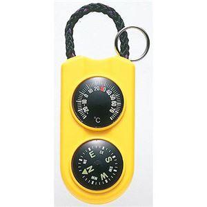 (まとめ)EMPEX 温度計・コンパス サーモ&コンパス FG-5124 イエロー【×5セット】