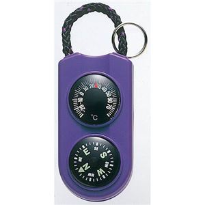 (まとめ)EMPEX温度計・コンパスサーモ&コンパスFG-5126パープル【×5セット】