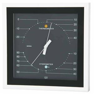 EMPEX温度・湿度計MONO温度・湿度計置き掛け兼用MN-4832ブラック