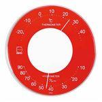 EMPEX 温度・湿度計 セレナカラー 丸型 置き掛け兼用 LV-4355 レッド