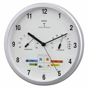 EMPEX掛け時計パル電波時計1台4役BW-878シャインシルバー
