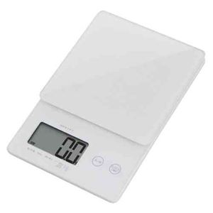 (まとめ)DRETECキッチンスケールデジタルスケールストリーム2kgはかり0.1g単位ではかれるシンプルな高精度スケールKS-245WT【×2セット】