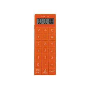 (まとめ)DRETEC 電卓付長時間タイマー 99時間までセットできる CL-116OR【×5セット】