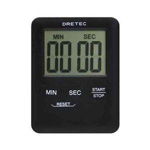 (まとめ)DRETECデジタルタイマーポケッティ薄さ9mmコンパクトなポケットサイズT-307BK【×5セット】