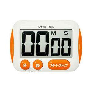 (まとめ)DRETECキッチンタイマー大きな文字が時間をはっきり表示大画面タイマーT-291OR【×5セット】