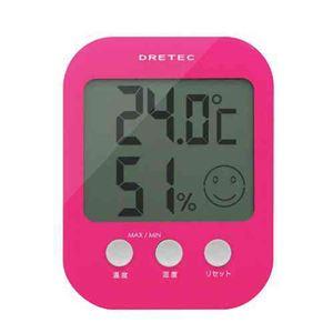 (まとめ)DRETECデジタル温湿度計オプシス5段階の表情で室内の快適度を表示O-230PK【×3セット】