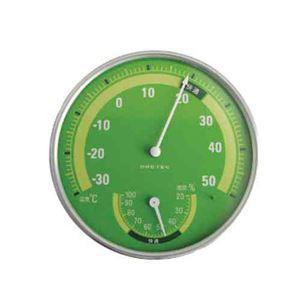 (まとめ)DRETEC 温湿度計 快適な温度・湿度がひと目でわかる快適温湿度範囲表示 O-310GN【×5セット】