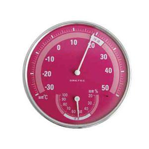 (まとめ)DRETEC 温湿度計 快適な温度・湿度がひと目でわかる快適温湿度範囲表示 O-310PK【×5セット】