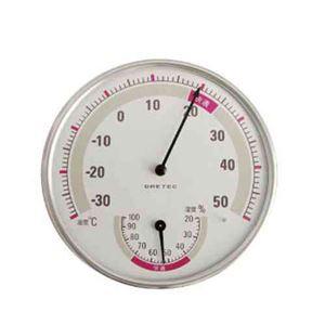 (まとめ)DRETEC 温湿度計 快適な温度・湿度がひと目でわかる快適温湿度範囲表示 O-310WT【×5セット】