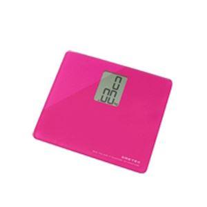 (まとめ)DRETEC デジタル 体重計 ボディースケール 「プティ」 BS-113PK ピンク【×2セット】