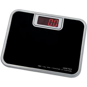 (まとめ)DRETEC デジタル 体重計 ボディースケール 「ビッグLED体重計」 BS-116BK ブラック【×2セット】