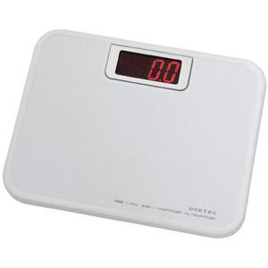 (まとめ)DRETEC デジタル 体重計 ボディースケール 「ビッグLED体重計」 BS-116WT ホワイト【×2セット】