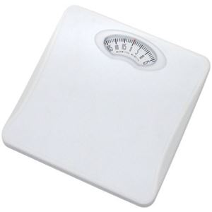 (まとめ)DRETEC アナログ 体重計 ボディースケール 「シェイプス」 BS-302WT ホワイト【×3セット】
