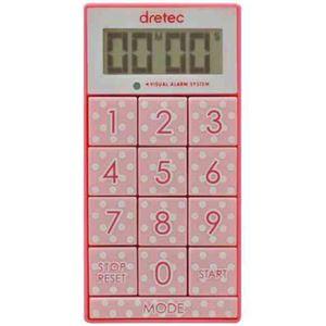 (まとめ)DRETEC キッチンタイマー 光と音で時間をお知らせ デジタルタイマー スリムキューブ T-520PK【×5セット】 - 拡大画像