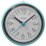 (まとめ)DRETEC おふろクロック スパタイム かわいいフォルムの防滴時計 C-110BL【×5セット】