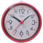 (まとめ)DRETEC おふろクロック スパタイム かわいいフォルムの防滴時計 C-110PK2【×5セット】
