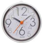 (まとめ)DRETEC おふろクロック スパタイム かわいいフォルムの防滴時計 C-110WT2【×5セット】