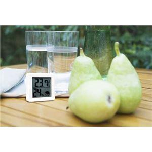 (まとめ)DRETEC温湿度計熱中症インフルエンザの危険度を表示する小さいデジタル温湿度計ホワイトO-257WT【×5セット】