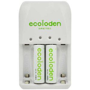 (まとめ)DRETEC 急速充電器 電池1個から急速充電できます RB-513 エコロでん 単3形 充電池 2個入 RB-513GN【×2セット】