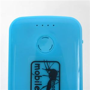 (まとめ)サンコー 蚊よけ付きモバイルバッテリー ホワイト USBTMQ5W【×2セット】 f04