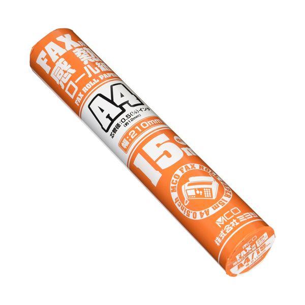 (まとめ)ミヨシ FAX感熱ロール紙 A4 15m巻き 0.5インチ芯 2本入り FXR15AH-2【×10セット】f00