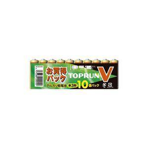 (まとめ)富士通 単3アルカリ10本パック LR6(10S)TOPV【×10セット】