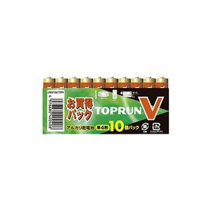 (まとめ)富士通 単4アルカリ10本パック LR03(10S)TOPV【×10セット】