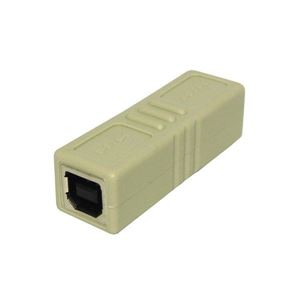 (まとめ)3Aカンパニー USB2.0 中継プラグ Btype メス-メス USB変換アダプタ UAD-J20B【×10セット】