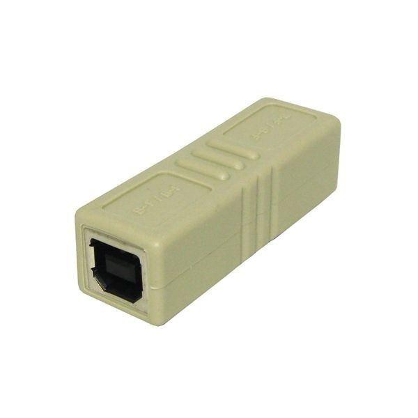 (まとめ)3Aカンパニー USB2.0 中継プラグ Btype メス-メス USB変換アダプタ UAD-J20B【×10セット】f00