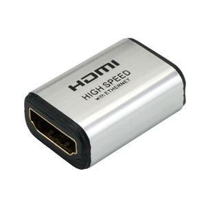 (まとめ)HORIC HDMI中継アダプタ シルバー HDMIF-HDMIF【×10セット】