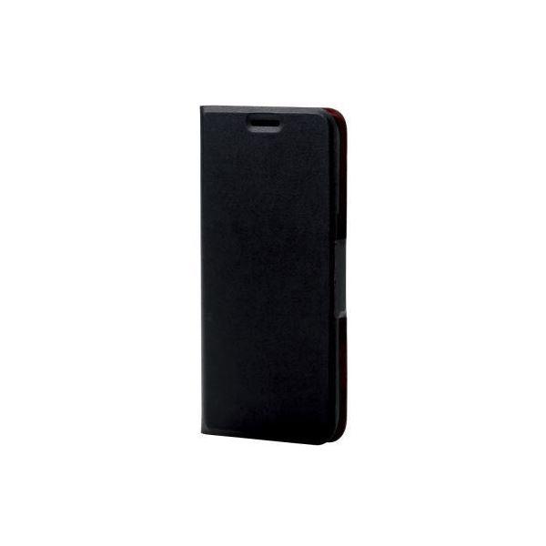 (まとめ)エレコム Galaxy S7 edge用レザーケース/薄型/磁石付 PM-GS7EPLFUMBK【×2セット】f00