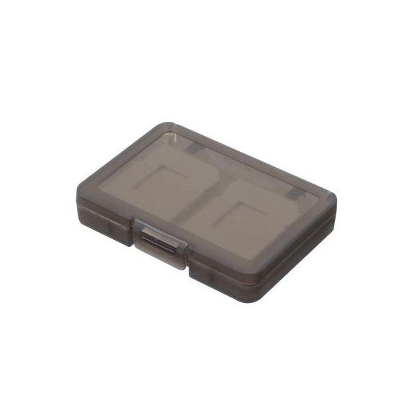 (まとめ)エツミ SDカードホルダー4 グレー E-5261【×10セット】f00
