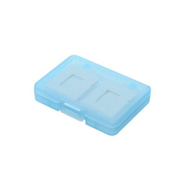 (まとめ)エツミ SDカードホルダー4 ブルー E-5262【×10セット】f00