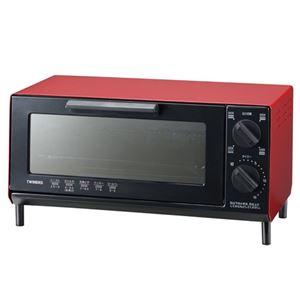 (まとめ)ツインバードオーブントースターレッドTS-4035R【×2セット】