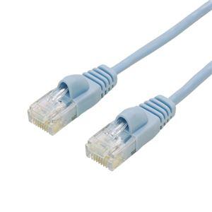 (まとめ)ミヨシ カテ6ストレートLANケーブル スリムタイプ 直径3.5mm ブルー 1m LAN-TS601BL【×10セット】 h01